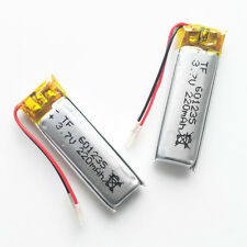2 pcs 3.7V Li-Polymer Battery 220mAh 601235 cell For Mp3 bluetooth PSP headphone