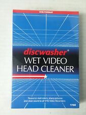 Discwasher Wet Video Head Cleaner for VHS VCR Player New Factory Sealed