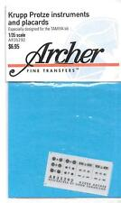 Archer Krupp Protz Instruments, Placards Dry Transfers 1/35 AR35 292 ST