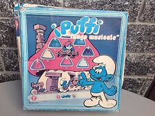 80S Faiplast Puffi Smurfs Collectible Vintage Toy Musical Mushroom Fungo Nib