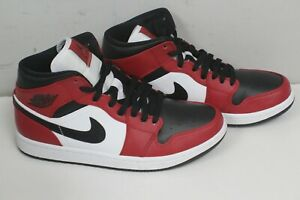 Size 8 - Jordan 1 Mid Chicago Black Toe 2020 Pre-Owned 554724-069