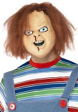 Oficial Chucky Sobre Cabeza Látex Máscara Halloween Horror Elaborado Vestido P8710