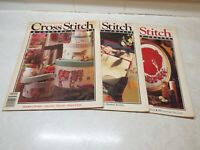 Set of 3 Cross Stitch & Country Crafts Magazines 1991 Mar/Apr May/Jun Sept/Oct