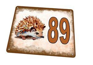 Hedgehog House Door Number Sign House Sign Door Number Sign Wall Plaque
