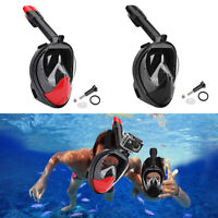 Masque De Plongée Swim Goggles Full Face 180°Snorkeling Anti Fog Pour GoPro New