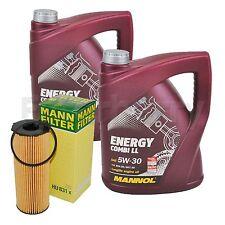 MANN Ölfilter + 10L Mannol 5W-30 Ölwechselpaket Audi A6 4F 2,7+3,0TDI bis 10/08