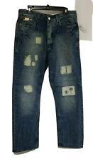 BLUE BLOOD Men's Jeans 34-34 W34/L34 Distressed Pants Trousers Denim, NWT