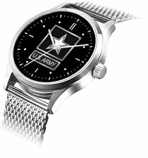 U.S. Army Emblem Watch Has Polished Chrome Case With S.S. Mesh Band