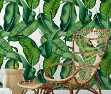 Big Banana Leaf Removable Wallpaper / modern jungle style palm self adhesive