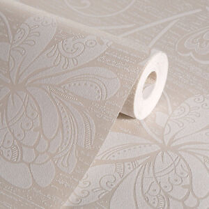 Vintage Elegant Gold Floral Wallpaper Embossed Textured Non-woven Roll