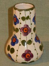 Vase Lausitzer Keramik mit Blumenmotiven Bunzlau um 1920/30
