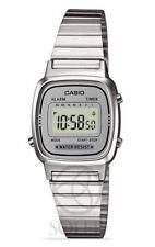 Casio La670wea-7ef Señoras reloj Cronógrafo esfera plateada