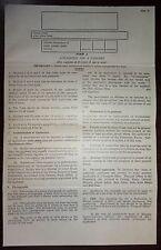 Federation of Malaya 1950s passport application form