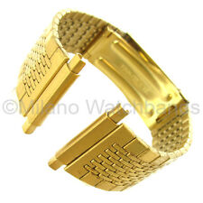 16-22mm Speidel Twist On Deployment Buckle Gold Metal Mens Watch Band 168
