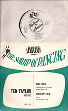 "Ted Taylor Music The Sound of Dancing - Waltzes & Quicksteps UK 45 7"" EP PS"
