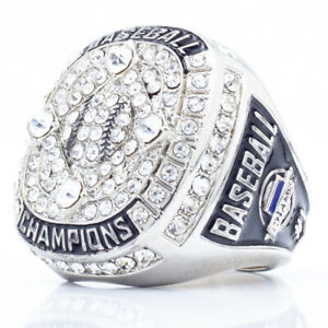 SIGNATURE Baseball Championship Ring w/ Stones 3X Super Bowl Size Champ Trophy