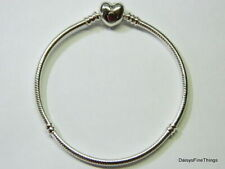 NEW/TAGS AUTHENTIC PANDORA SILVER BRACELET HEART CLASP #590719 MULTIPLE SIZES