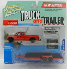 2018 Johnny Lightning *TRUCK & TRAILER 1B* 2004 Ford F-250 w/CAR TRAILER *NIP*