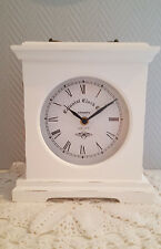 """Standuhr """" Colonial Clock """" Uhrweiß 22 cm Kaminuhr Shabby Stil Antikart Vintage"""