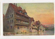 Old Houses Nuremberg Germany Vintage Hildesheimer Postcard 887a
