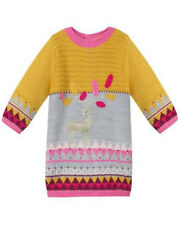 Catimini  Baby Girl Nomad Knit Deer Dress Size 9 Month & Tights Set