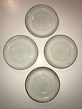 """LOT OF 4 - STONEHENGE MIDWINTER - CREATION -  6 1/4"""" SAUCERS"""