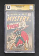 JOURNEY INTO MYSTERY #89 CGC 5.5 STAN LEE SS ORIGIN OF THOR 83 AVENGERS MIGHTY 1