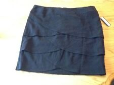 Ab Studio Tiered Black Skirt Size 16