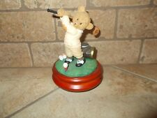 """Bear Golfer Musical Figurine """"The Impossible Dream"""" by Symphony"""