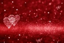 Vinyl Photography Backdrops Red Flashing Dazzling Love Background For Studio