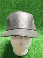 Hatquarters USA Made Grey Leather Cap Hat Size Small NWOT Fast Free Shipping