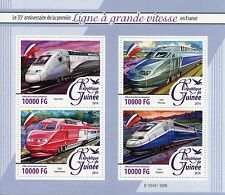 Guinea 2016 MNH High-Speed Trains in France 35th Anniv 4v M/S TGV Duplex POS