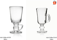 6x Irisch Irish Coffee Kelchglas Kelchgläser Irish Coffee Glas Gläser mit Henkel