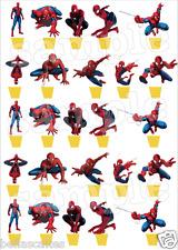 20 Eßbar Tortenaufleger Spiderman Deko Muffinaufleger neu Party Figur Spiel