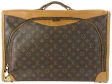 9e3d26b34bb5 Louis Vuitton Monogram Suitcase Brown Coated Canvas Weekend Travel Bag  10lz0717