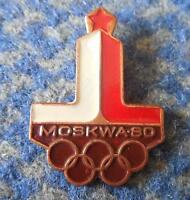 NOC POLAND OLYMPIC MOSCOW 1980 BRONZE VERSION PIN BADGE