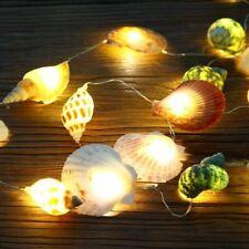 Mediterranean Styles LED String Lights Natural Seashells Room Decor Animal Shape