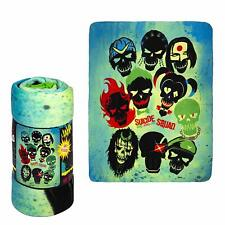 DC Comics Suicide Squad Harley Quinn, Joker and Team Fleece Throw Blanket