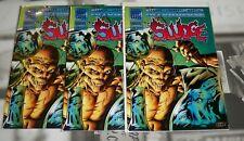 Sludge #5 Three Copies Mailbu Ultraverse NM