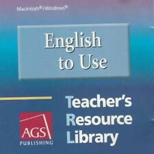 English To Use: Teacher's Resource Library PC MAC CD AGS tests workbook activity