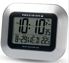 Precision PREC0102 Case LCD Wall Mountable/ Desk Clock Silver