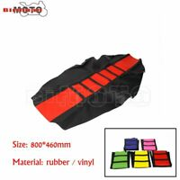 Motorcycle Bike Seat Cover For Suzuki RM 125 / 250 Black Red Motocross Universal