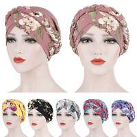 Women Hair Loss Beanies Head Wrap Scarf Cancer Chemo Cap Muslim Turban Hat Braid