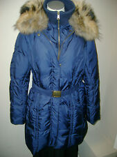Andrew Marc Belted Down Coat w/Racoon Collar  NWT $595