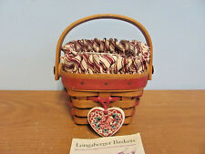 Longaberger 1994 Sweetheart Forever Yours Basket With Liner, Tie-On & Protector