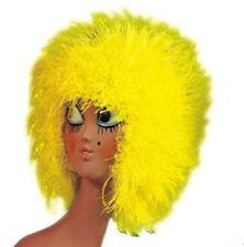 Perruque années 1980 disco ébouriffée jaune fluo  theatre deguisement carnaval