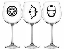 Marvel Funny Vinyl Glass Decal Sticker Set