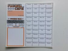 25 Football team cards charity fundraising (40 spaces)