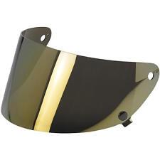Biltwell Gringo S Motorcycle Helmet Flip Up Flat Shield Visor - Gold Mirror