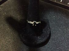 VINTAGE 14K YELLOW GOLD SAPPHIRE AND DIAMOND RING SIZE 10